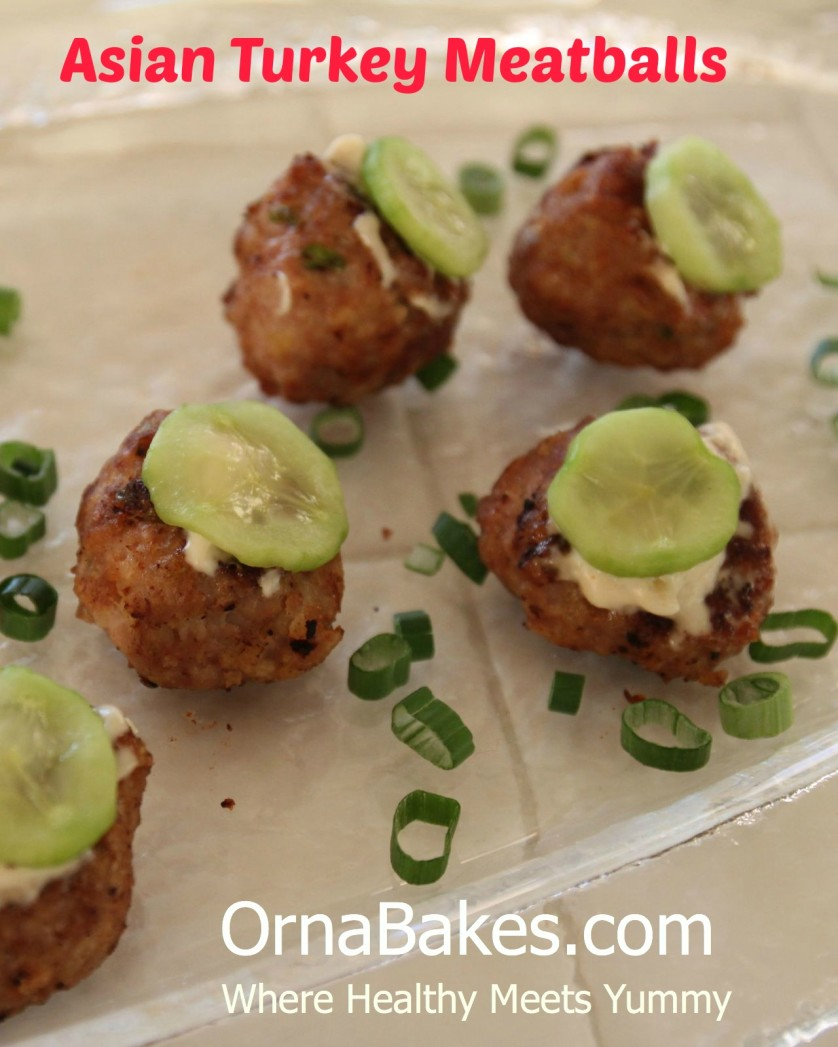 Asian Turkey Meatballs from OrnaBakes