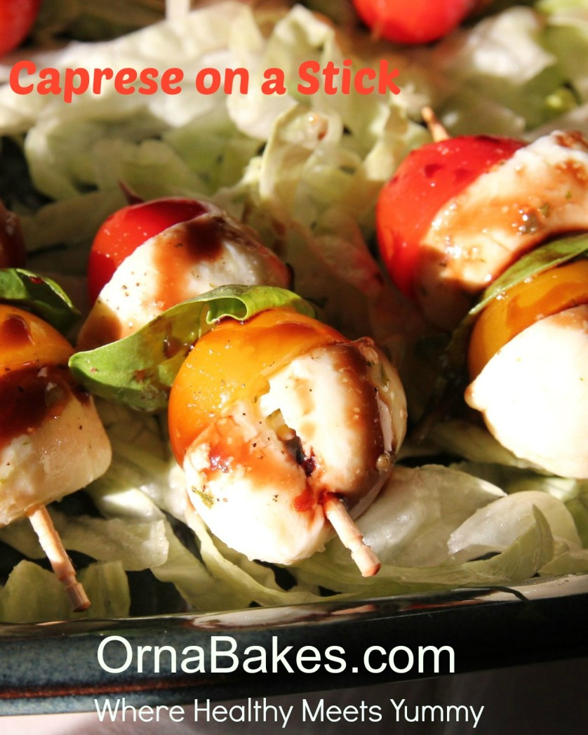 Caprese on a Stick from OrnaBakes