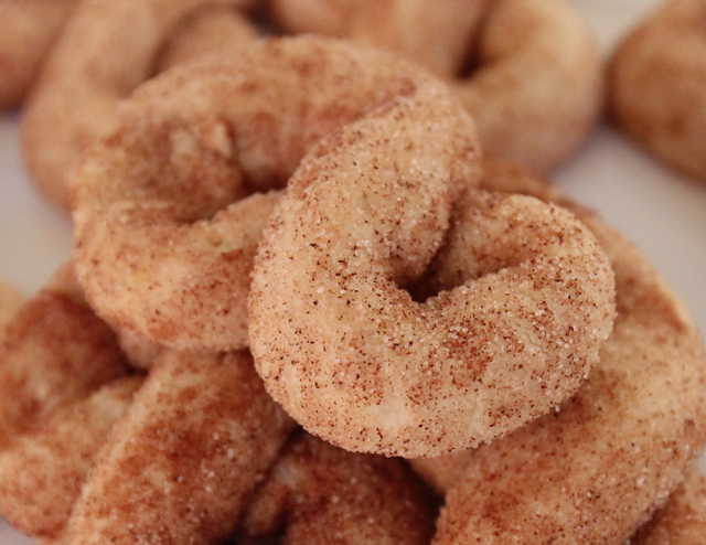 Cinnamon Sugar Figure Eight Cookies