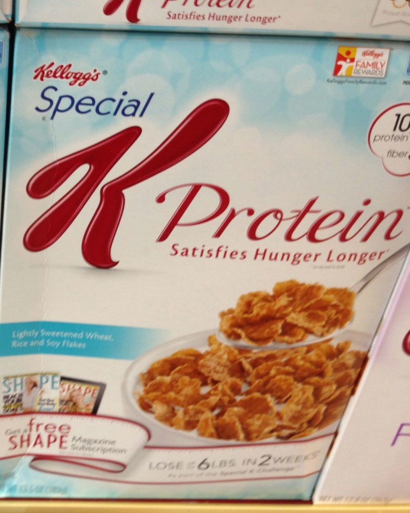 Kelloggs Special K Protein Cereal Box
