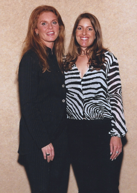 Orna with the Duchess of York Weight Watchers Convention, 2004
