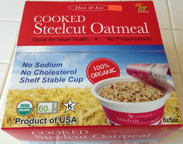 Minsley Steelcut Oatmeal Box