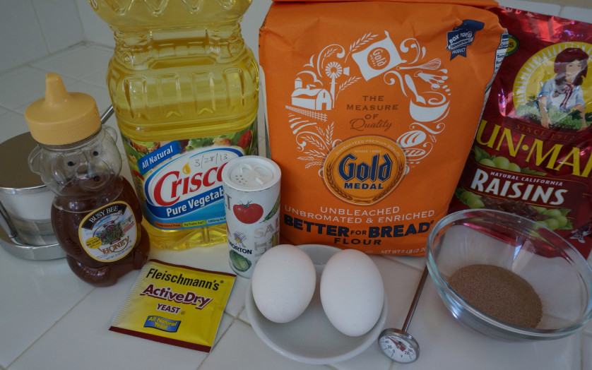 Round Challah Ingredients