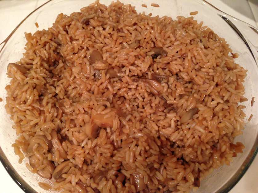 Oven Fried Rice with Mushrooms - OrnaBakes