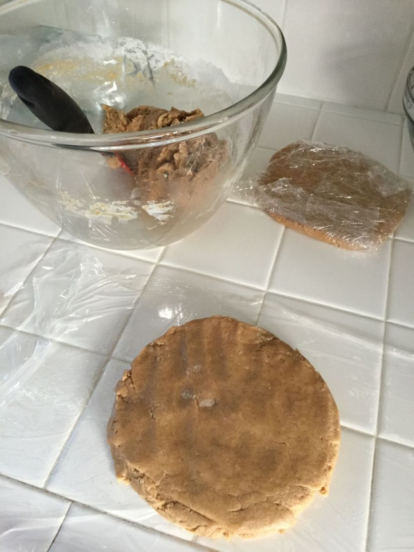 Making disks out of ginger dough